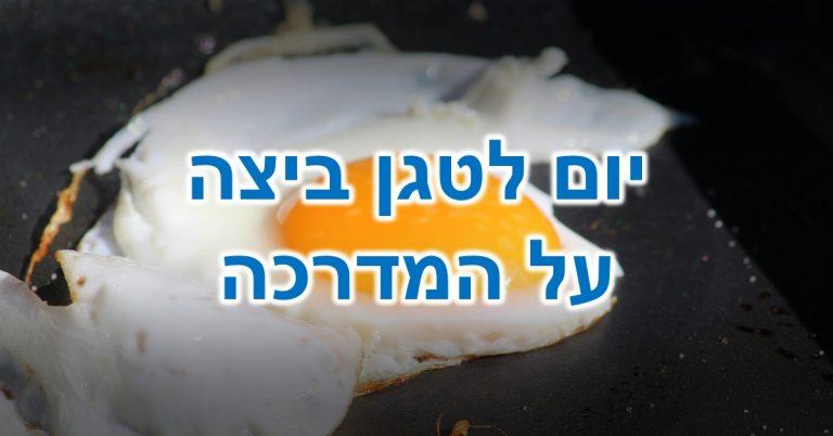 יום לטגן ביצה על המדרכה: ביצת עין מתבשלת בתוך מחבת - היא מסתכלת עליכם ושואלת: למה אתם נותנים לכדור הארץ להתחמם?!?!?!